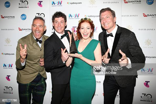 The Wiggles pose in the awards room with an ARIA for Best Childrens Album during the 30th Annual ARIA Awards 2016 at The Star on November 23 2016 in...