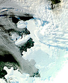 The Wilkins Sound, a seaway on the southwest side of the Antarctic Peninsula.