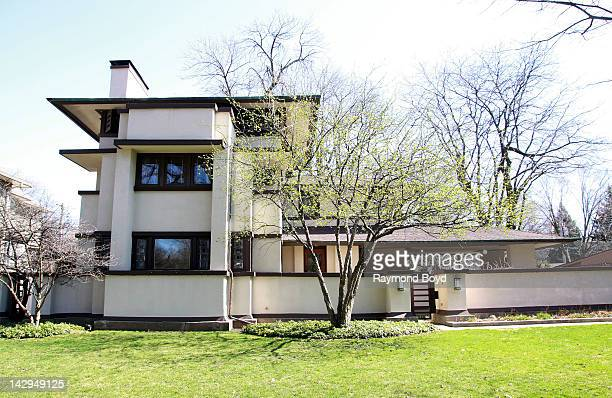 The William E Martin House built in 1902 and designed by famed architect Frank Lloyd Wright in Oak Park Illinois on MARCH 17 2012