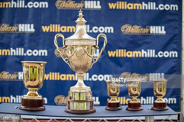 The William Hill Ayr Gold Cup trophy on September 19 2015 in Ayr Scotland