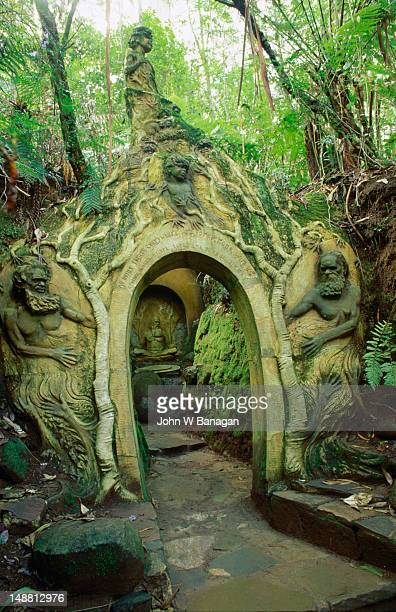 The William Ricketts Sanctuary in the Dandeong Ranges National Park, Ricketts was born in Richmond in 1898 and moved to Mount Dandenong in 1934, his work, peopled by European and Aboriginal figures is a masterpiece of intermixing