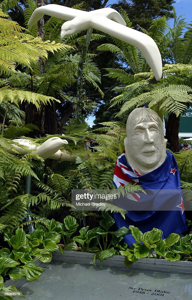 The Willow Creek Studio A Tribute to Sir Peter Blake garden at the TV One Outdoor Gardens at this years Ellerslie Flower Show held at the Auckland...