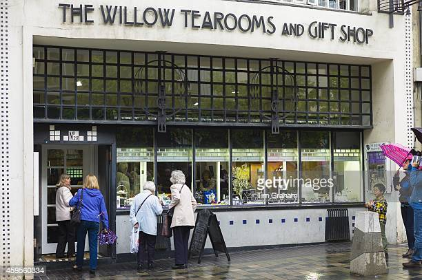 The Willow Tearooms and Gift Shop designed by Charles Rennie Mackintosh in 1903 in Sauciehall Street Glasgow Scotland UK