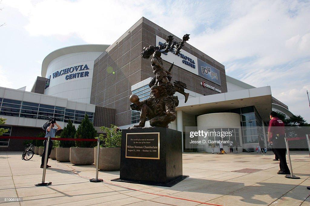 Philadelphia 76ers Unveil Wilt Chamberlain Statue   Getty ...