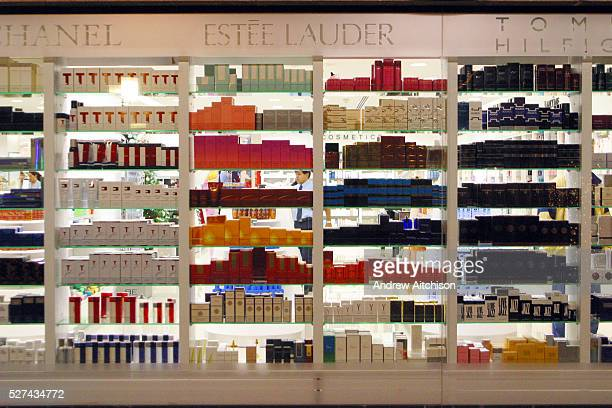 The window display of a perfume shop in a shopping mall in Gran Canaria Canary Islands Spain