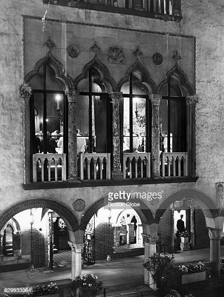 The windows are lit for the reception for the Japanese ambassador at the Isabella Stewart Gardner Museum in Boston on Sept 30 1964