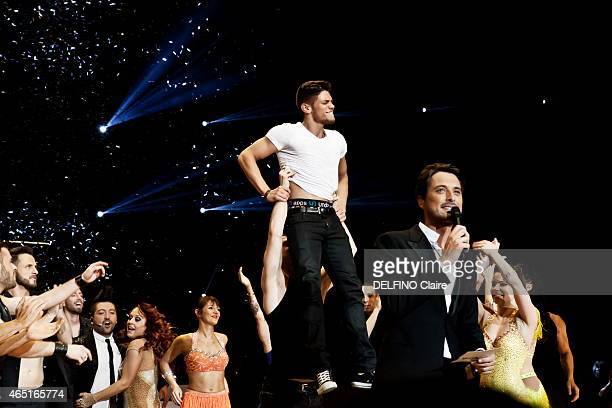 the winner of the celebrity show Danse avec les star saison 5 Rayane Bensetti with Denista Ikonomova Chris Marques Vincent Cerruti on february 20...