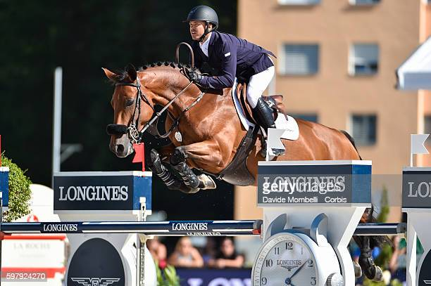 The winner of the race of La Roche Privatbank AG is Kent Farrington of USA his horse Gazelle'n