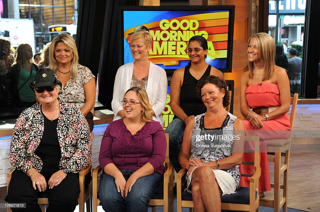 AMERICA - The winners of the $448 million Powerball jackpot, all employees of 16 Ocean County Vehicle Maintenance in Tom's River, NJ, appear on 'Good Morning America,' 8/13/13, airing on the ABC Television Network. OCEAN