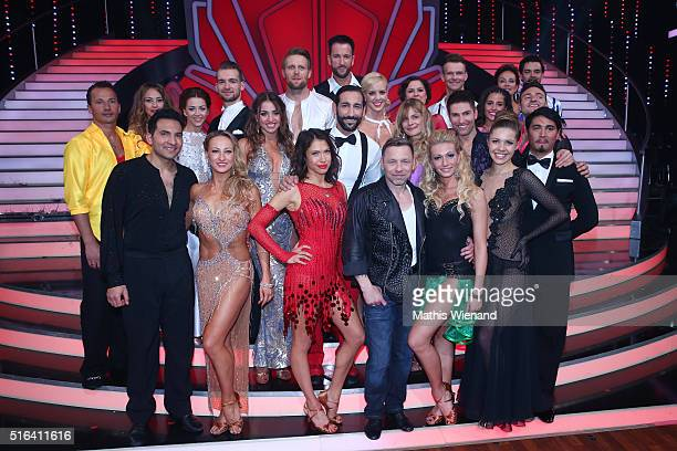 The winners on stage after the 'Let's Dance' 2nd show on March 18 2016 in Cologne Germany
