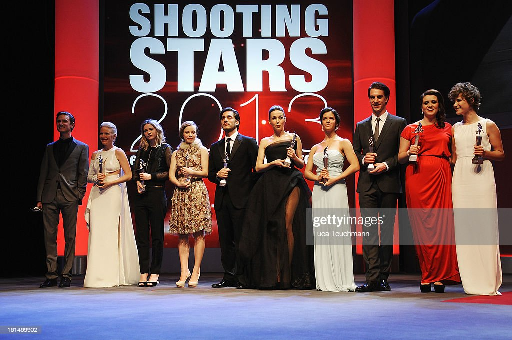 The winners pose onstage at the Shooting Stars Stage Presentation during the 63rd Berlinale International Film Festival at the Berlinale Palast on February 11, 2013 in Berlin, Germany.