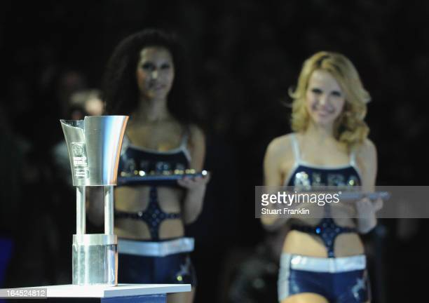 The winners trophy during the Beko BBLTop Four final game between Ratiopharm Ulm and Alba Berlin at O2 World on March 24 2013 in Berlin Germany