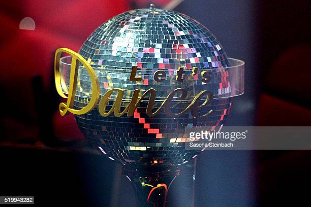 The winners trophy is seen during the 4th show of the television competition 'Let's Dance' at Coloneum on April 8 2016 in Cologne Germany