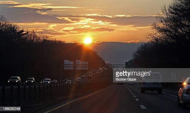 The Winter Solstice the shortest day of the year is on Wednesday and this afternoon the sun was already dipping below a cloud as some motorists on...
