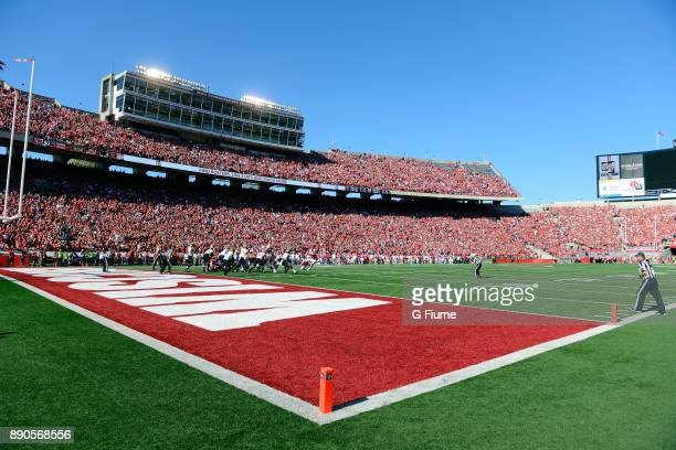 The Wisconsin Badgers play against the Maryland Terrapins at Camp Randall Stadium on October 21 2017 in Madison Wisconsin