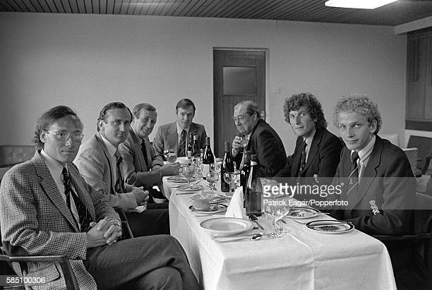 The Wisden Cricket Monthly magazine editorial board having a meal together during the 1st Test match between England and India at Edgbaston in...