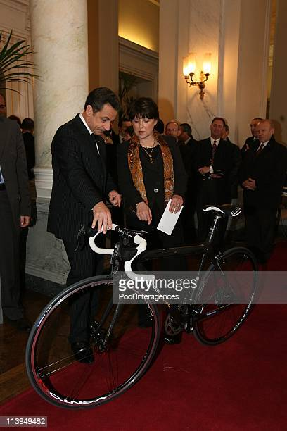 The wishes of Nicolas Sarkozy to the bodies and officials In Lille France On January 11 2008Nicolas Sarkozy President of the French Republic receives...