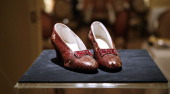 'The Wizard of Oz' Ruby Red Slippers worn by Judy Garland in 1939 at the viewing at the Plaza Athenee on December 5 2011 in New York City