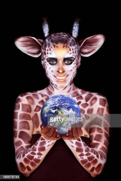では、女性のイメージは、世界中のキリン