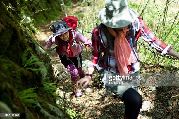 The women who climb a mountain