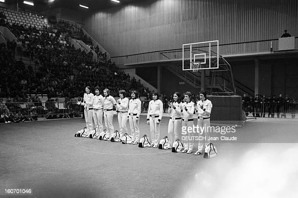 The Women's Basketball Team Of Clermont University Club A ClermontFerrand à l'occasion du championnat d'Europe les membres de l'équipe de basketball...
