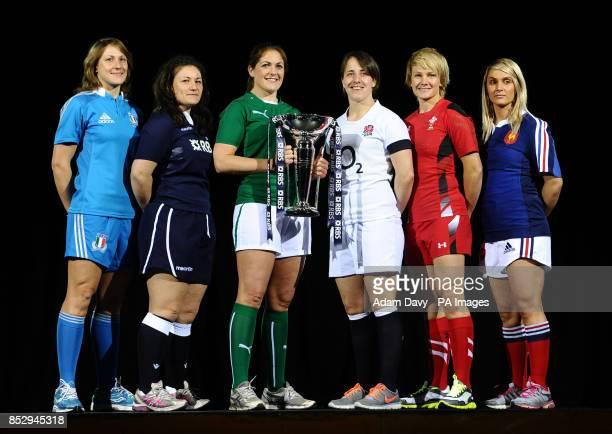 The Women's Captains Italy's Sylvia Gaudino Scotland's Tracey Balmer Ireland's Fiona Coghlan England's Katy McLean Wales' Philippa Tuttiett and...