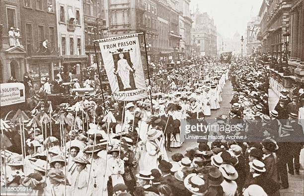 The Women's Franchise Demonstration London 1910 From The Year 1910 Illlustrated