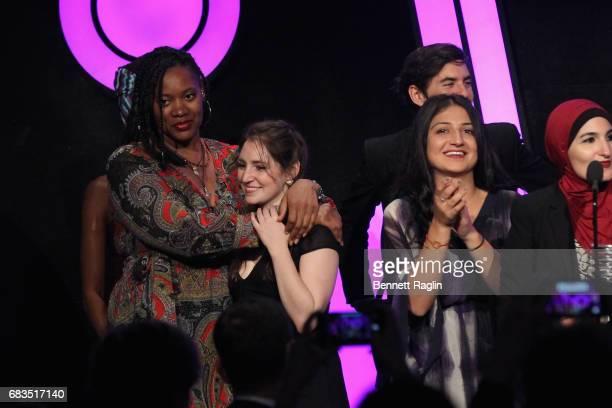 The Women's March accept an award onstage at the The 21st Annual Webby Awards at Cipriani Wall Street on May 15 2017 in New York City
