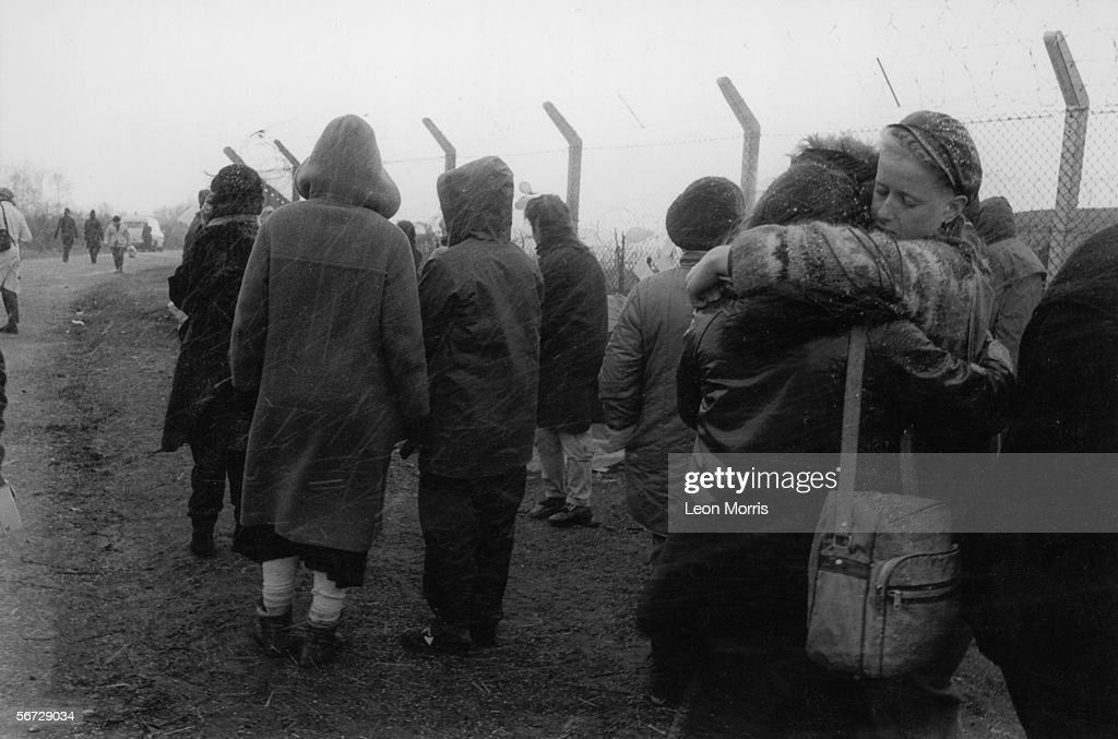 The women's peace camp at RAF Greenham Common in Berkshire, set up to protest against the military's use of cruise missiles and to campaign for nuclear disarmament, circa 1985.