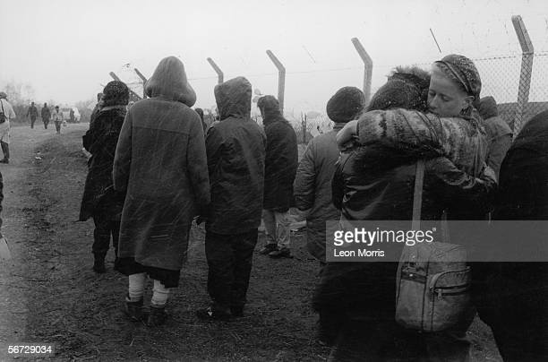 The women's peace camp at RAF Greenham Common in Berkshire set up to protest against the military's use of cruise missiles and to campaign for...