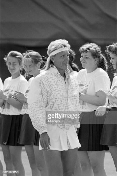 The Women's Singles final of the Dow Classic Tennis Tournament at the Edgbaston Priory Club pictured Martina Navratilova wins 18th June 1989