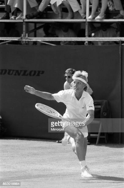 The Women's Singles final of the Dow Classic Tennis Tournament at the Edgbaston Priory Club pictured Martina Navratilova in action 18th June 1989