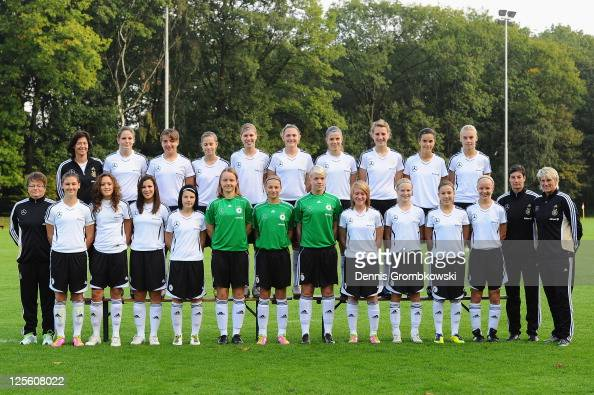 The women's U16 team of Germany poses during the Women's U16 Team Presentation on September 19 2011 in Duisburg Germany