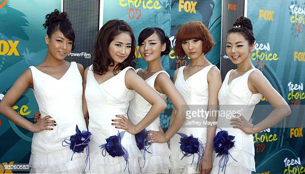 The Wonder Girls arrive at the 2009 Teen Choice Awards at the Gibson Amphitheatre on August 9 2009 in Universal City California