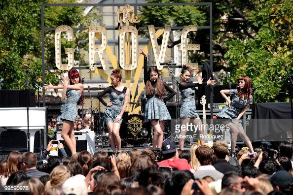 The Wonder Girls perform live at the Grove to kick off the summer concert series on May 15 2010 in Los Angeles California