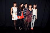 The Wonder Girls pose backstage at Milly By Michelle Smith Fall 2010 during MercedesBenz Fashion Week at Bryant Park on February 17 2010 in New York...
