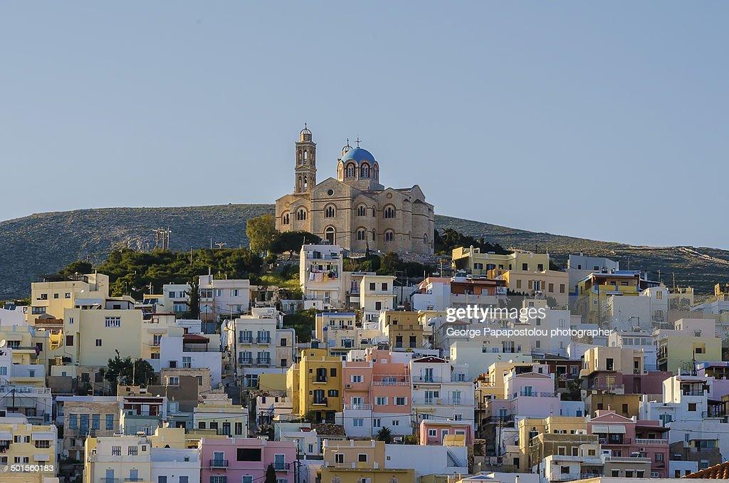 The wonderful Church of Resurrection in Syros