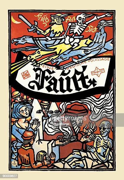 The woodcut style of this vintage film poster added emphasis on bringing German folktales to film