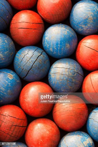 The wooden balls
