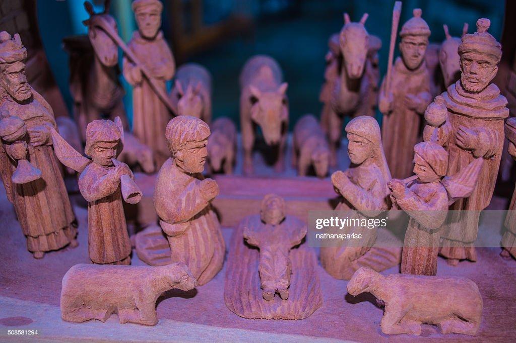 Nativité en bois : Photo