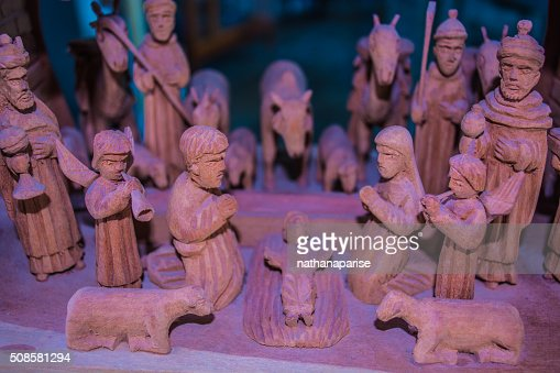 The wooden Nativity : Stock Photo