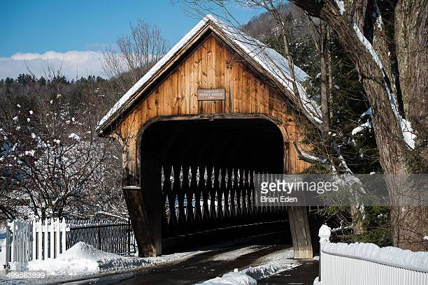 The Woodstock Middle Bridge in Vermont