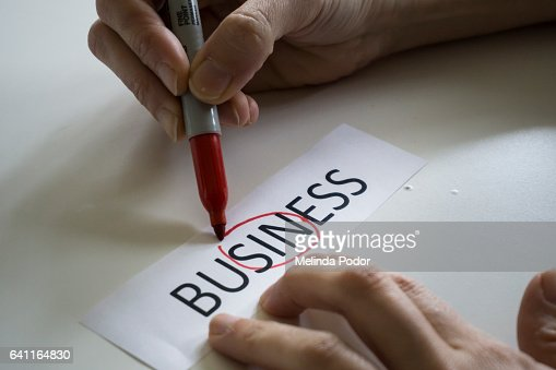 The word BUSINESS, with the word SIN circled