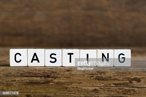 The word casting written in cubes : Stock Photo