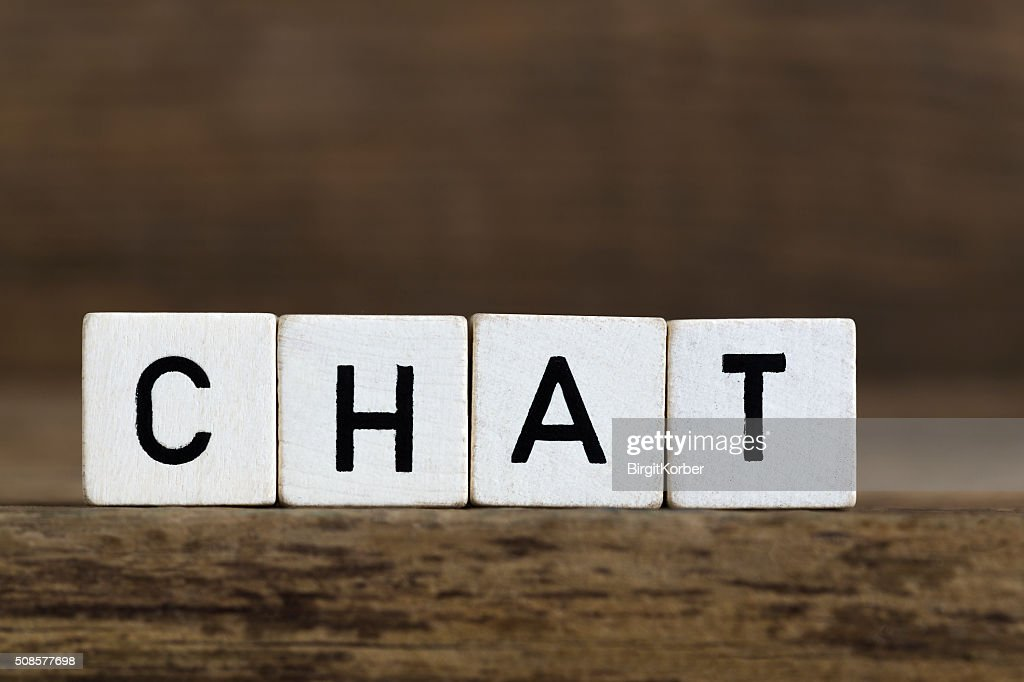 The word chat written in cubes : Stock Photo