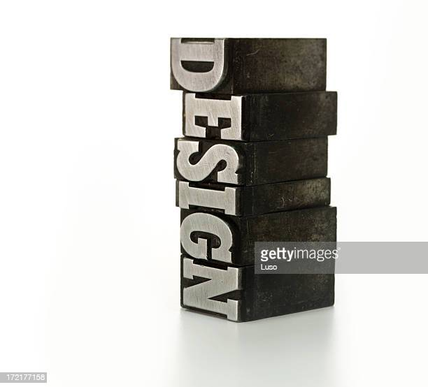 The word DESIGN - printing blocks