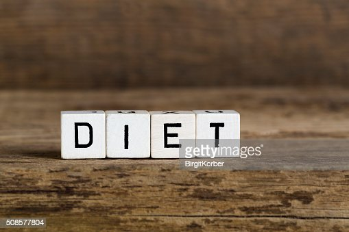 The word diet written in cubes : Stock Photo