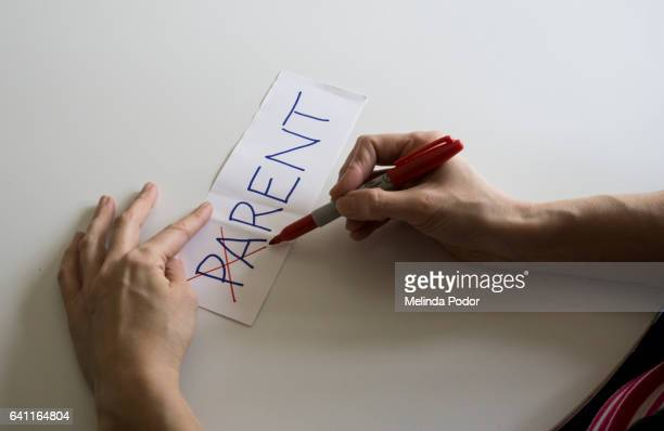 The word PARENT, with the letters PA crossed out to make rent