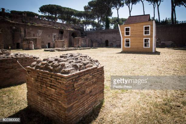 The work After Love by Vedovamazzei in the exhibition 'From Duchamp to Cattelan Contemporary Art on the Palatine' in Rome Italy The masters of the...