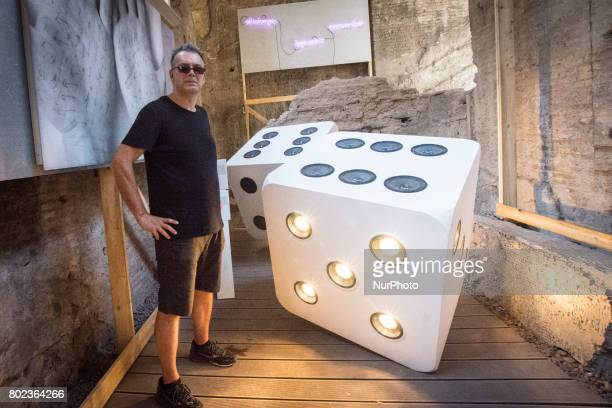 Gianluca Codeghini in the exhibition 'From Duchamp to Cattelan Contemporary Art on the Palatine' on June 27 2017 in Rome Italy The masters of the...